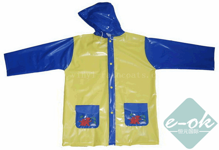 kids vinyl raincoats